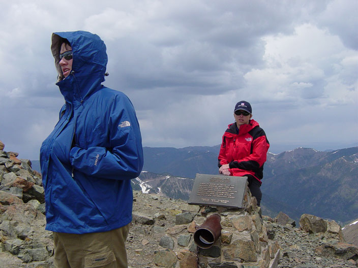 Andrew and Jackie on the summit!